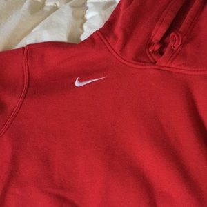Nike Red Oversized Hoodie
